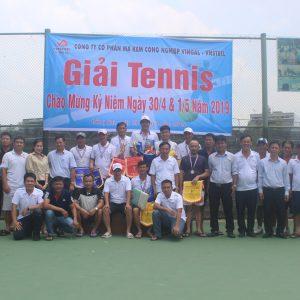 Công ty Vingal tổ chức giải tennis chào mừng kỉ niệm ngày 30/4 & 1/5 năm 2019